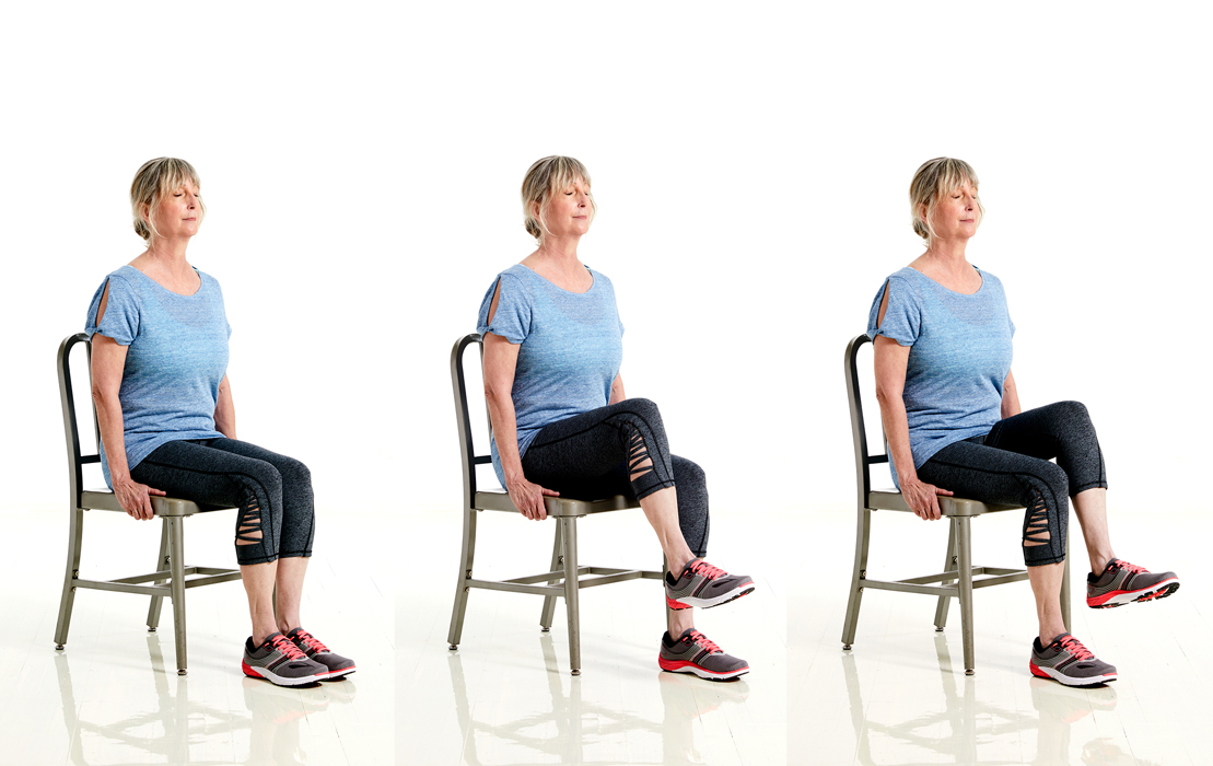 SilverSneakers Seated Knee Raise