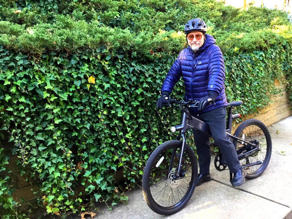 Alex Genis with e-bike