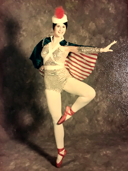 Mary Holcomb as a professional ballerina