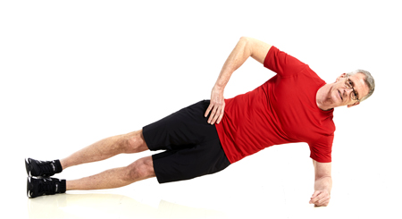 Side Plank with Stacked Feet